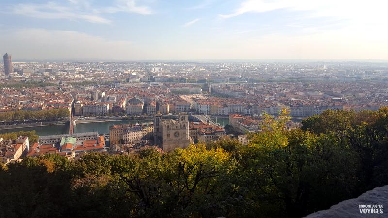 Lyon, Vue depuis la Basilique Notre Dame de Fourvière