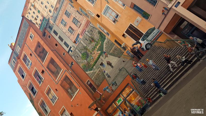 Mur des Canuts, quartier Croix Rousse à Lyon