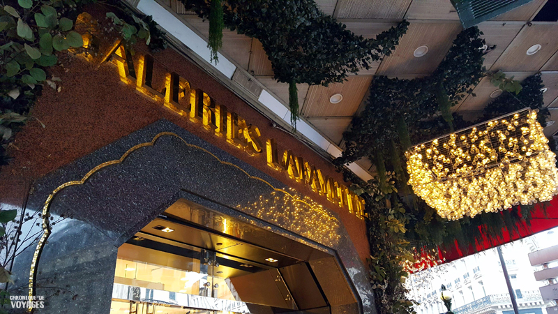Décorations et illuminations Galeries Lafayette à Noel